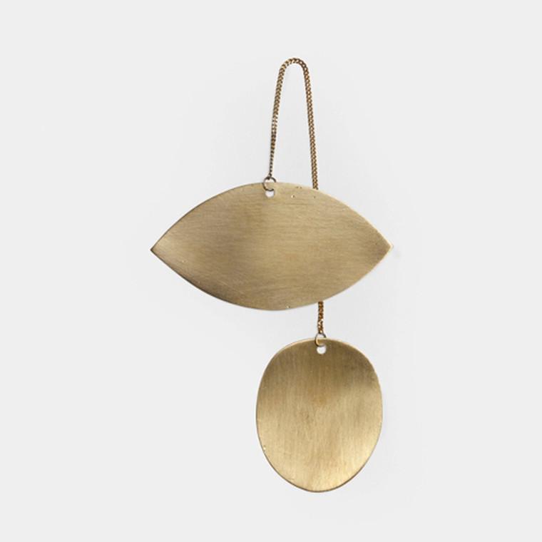 Ferm Living Twin Eye Brass Ornament