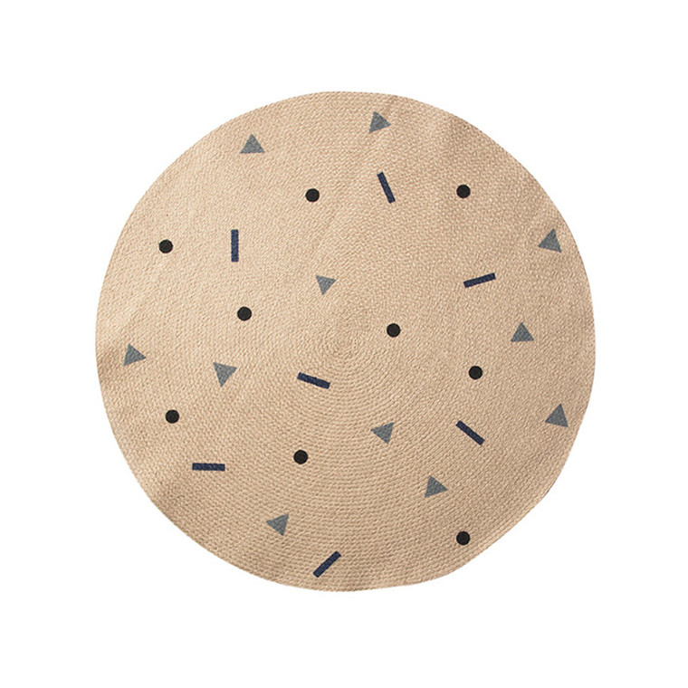 Ferm Living Jute Tæppe Blue Multi