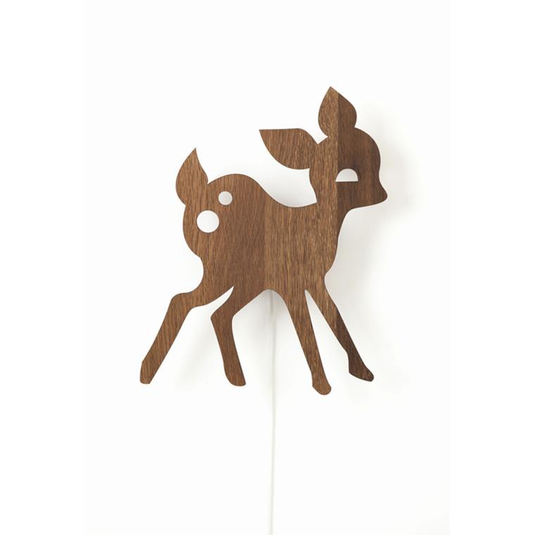 Ferm Living My Deer Lamp Røget Eg