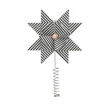 Ferm Living Juletræsstjerne - Black Stripe