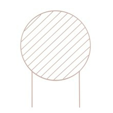 Ferm Living Plant Wall Circle Rose