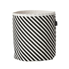Ferm Living Small Basket Black Stripes