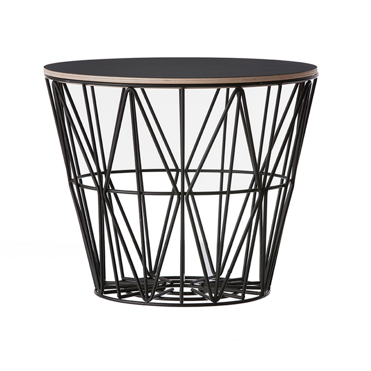 Ferm Living Wire Basket Top I Sort Ferm Living Bord