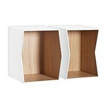 Munk Flip Bogkasse/Hylde Oak Inside