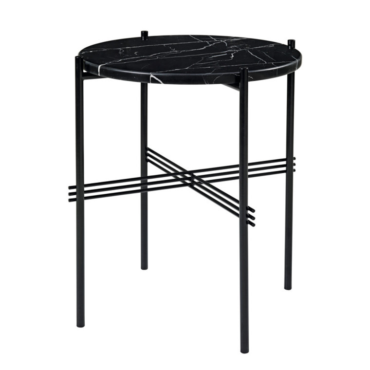 Gubi Gamfratesi TS Lounge Table Marmor Sort-Sort Lille