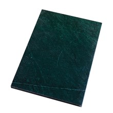 H. Skjalm P. Grøn Marmor Plade 24x35 cm