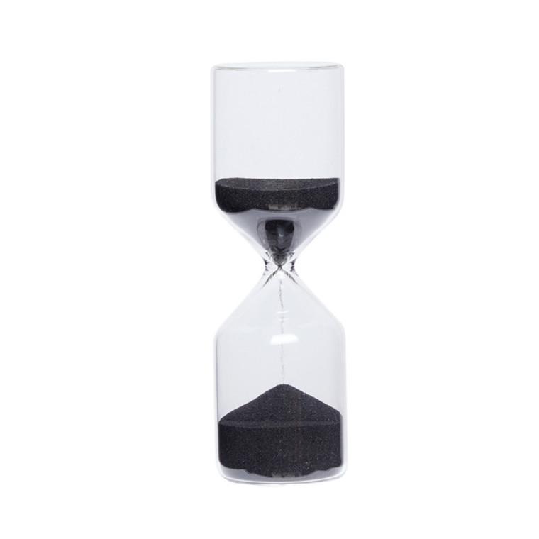 Hübsch Timeglas Sort Lille