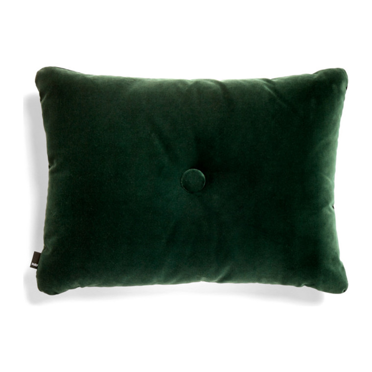 HAY Dot Cushion 1 Dot Soft Pude Mørkegrøn