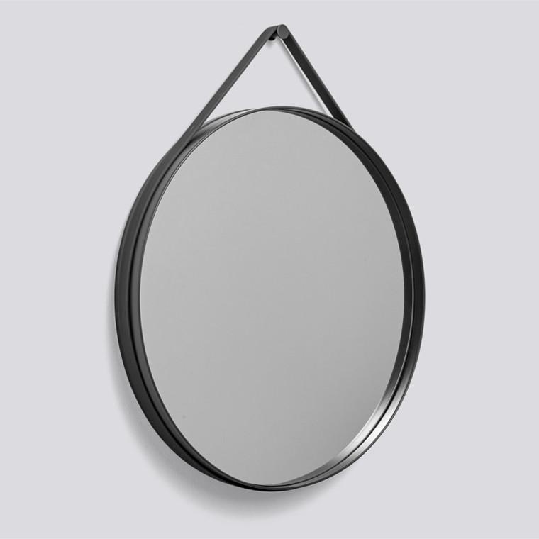 HAY Strap Mirror Spejl Ø70 Antracit