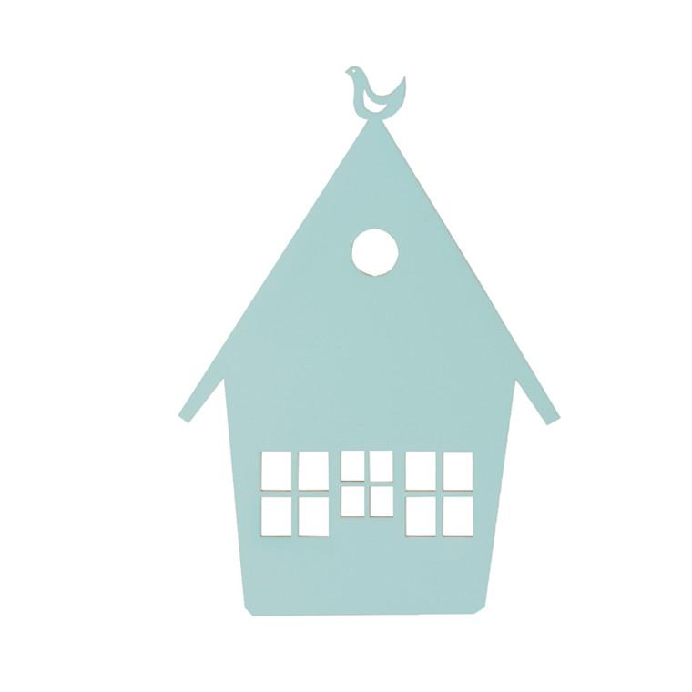 Ferm Living Hus lampe lysblå