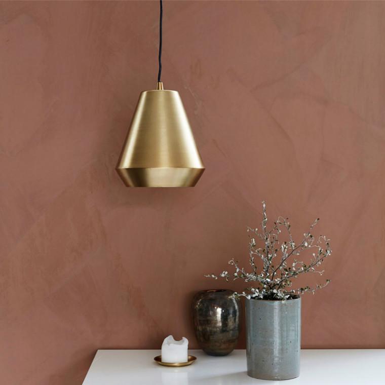 house doctor hood lampe smuk loftlampe i messing. Black Bedroom Furniture Sets. Home Design Ideas