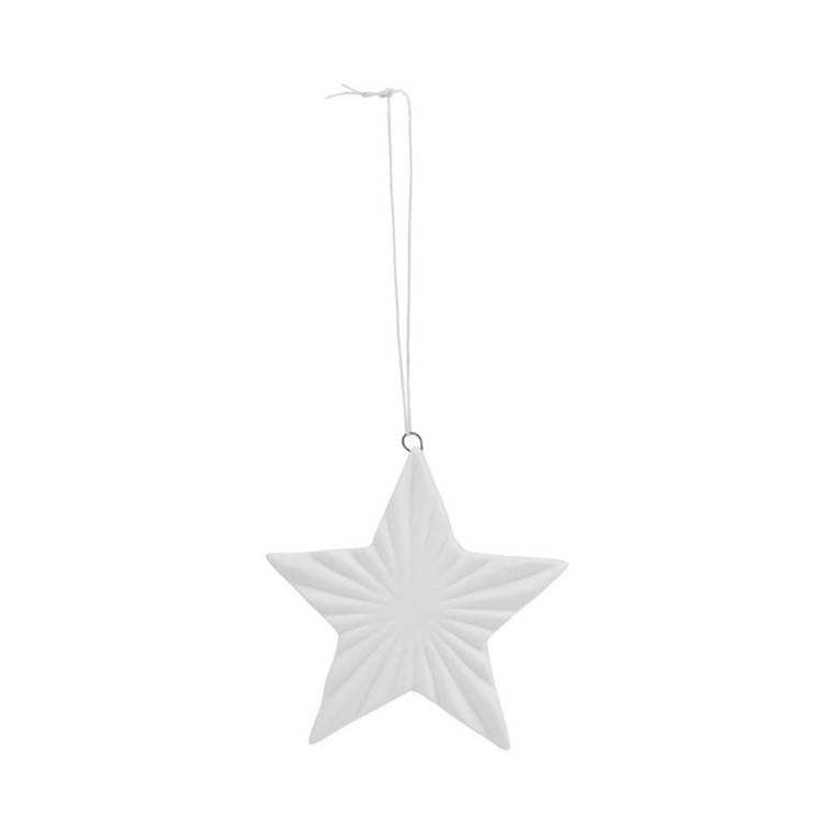 House Doctor Ornament Star 02 Hvid