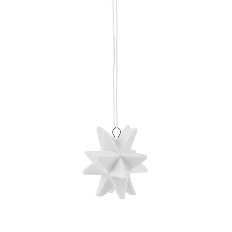 House Doctor Ornament Star Stor Hvid