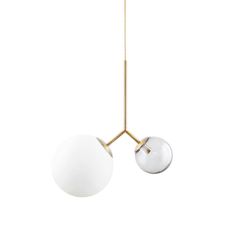 House Doctor Lampe Twice Hvid/Grå