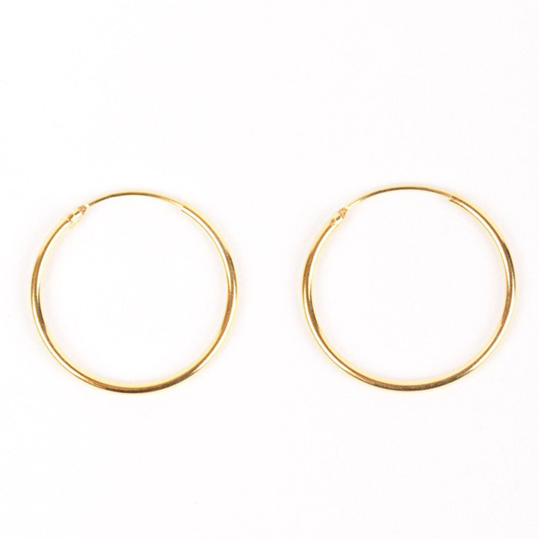 Jukserei Øreringe, Hoop Earrings Guld