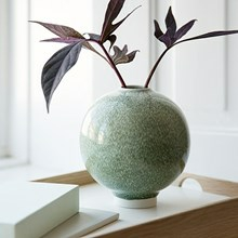 Kähler Unico Vase H125 Mosgrøn
