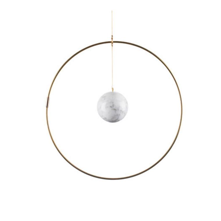 Kaja Skytte Galaxy Globe Small Hvid Marmor