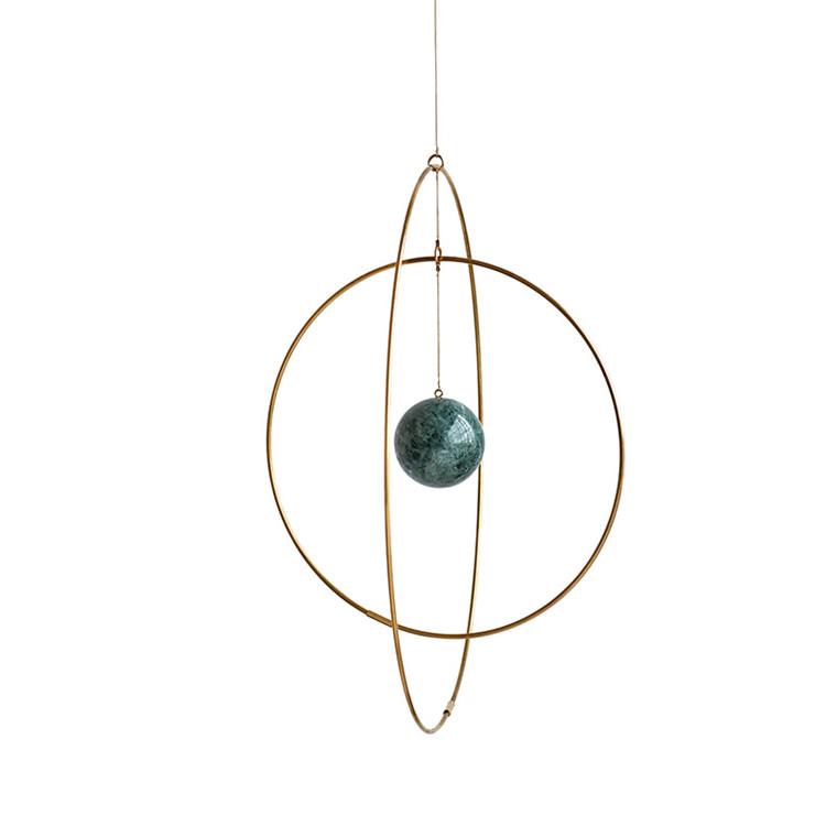 Kaja Skytte Galaxy Globe Medium Mørkegrøn Marmor