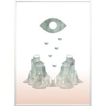 Kristina Dam Eye + Mountain Color A4 Illustration