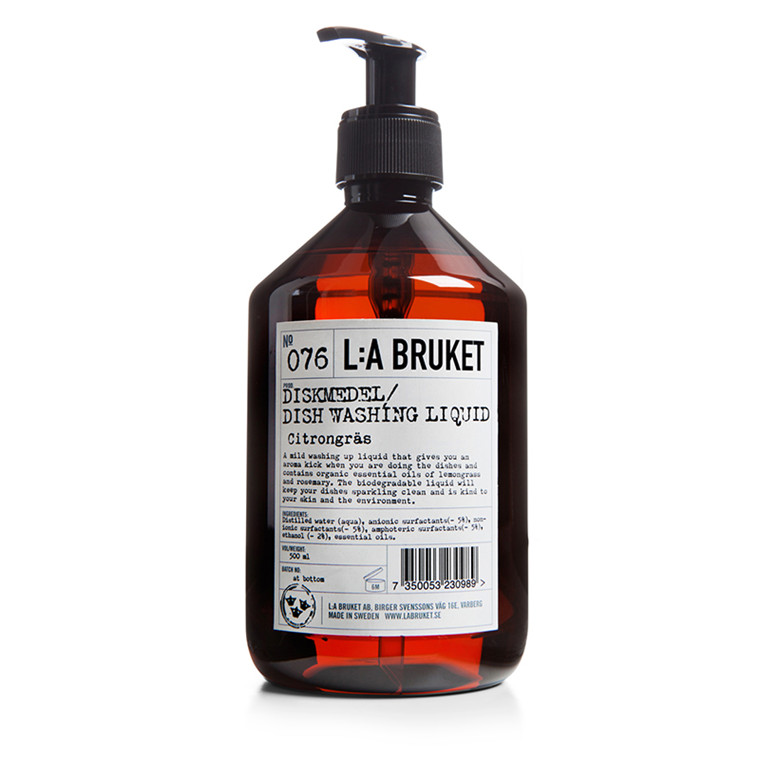 LA Bruket Opvaskemiddel Citrongræs/Rosmarin 500 ml