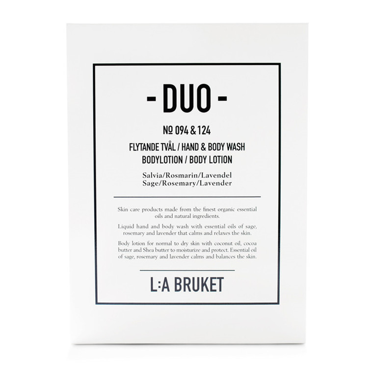 La Bruket Duo Kit Sæbe/Body Lotion Salvie/Rosmarin/Lavendel