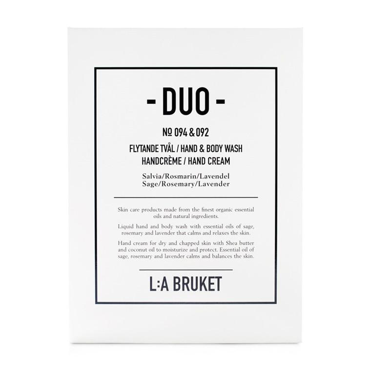 LA Bruket Duo Kit Sæbe/Håndcreme Salvie/Romarin/Lavendel