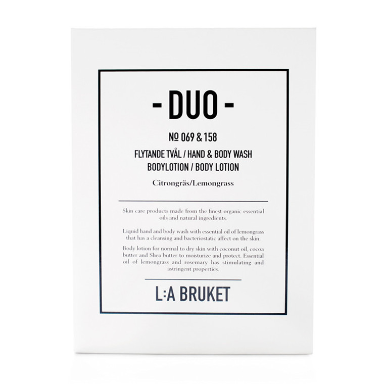 La Bruket Duo Kit Sæbe/Body Lotion Citrongræs