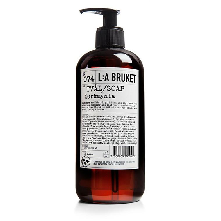 LA Bruket Håndsæbe Agurk-Mynte 250 ml