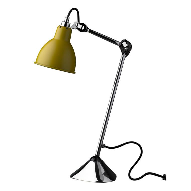Lampe Gras Bordlampe No. 205 Krom-Gul