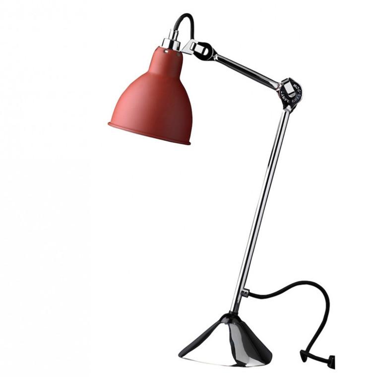 Lampe Gras Bordlampe No. 205 Krom-Rød