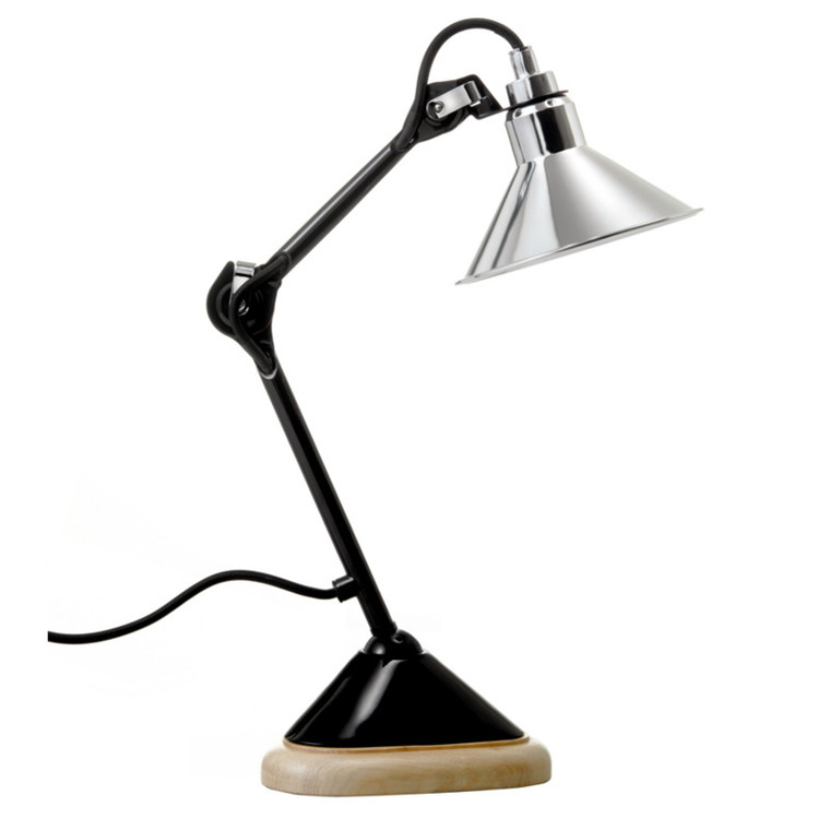 Lampe Gras Bordlampe No. 207 Sort-Krom