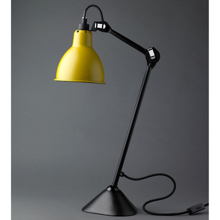 Lampe Gras Bordlampe No. 205 Sort-Gul