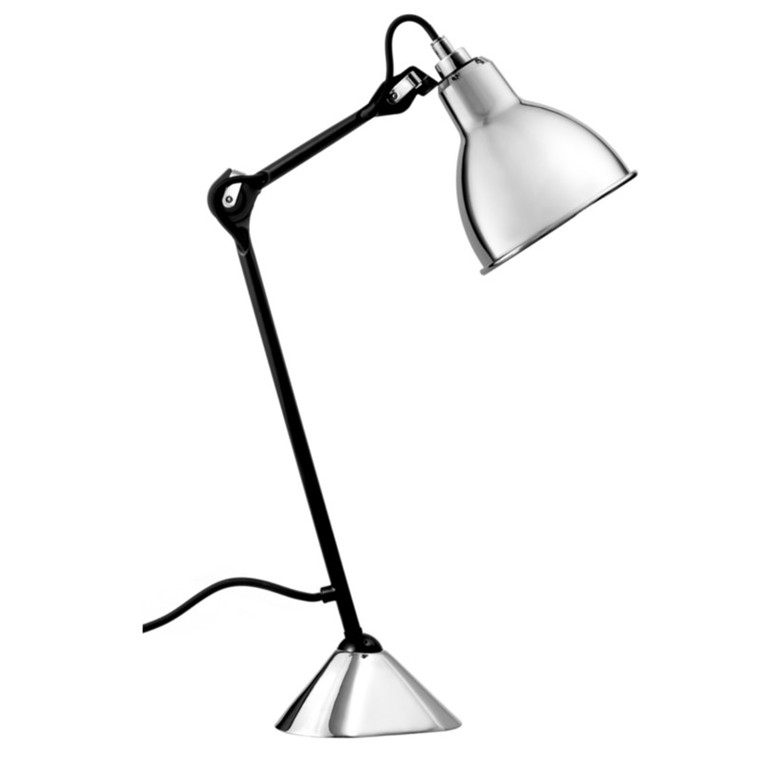Lampe Gras Bordlampe No. 205 Sort-Krom