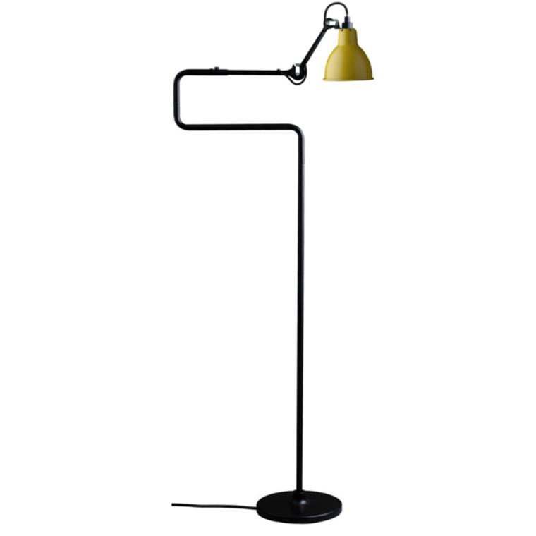 Lampe Gras Gulvlampe No. 411 Sort-Gul