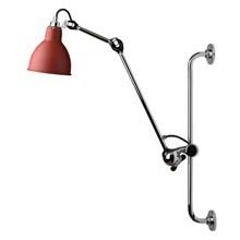 Lampe Gras Væglampe Krom-Rød No 210
