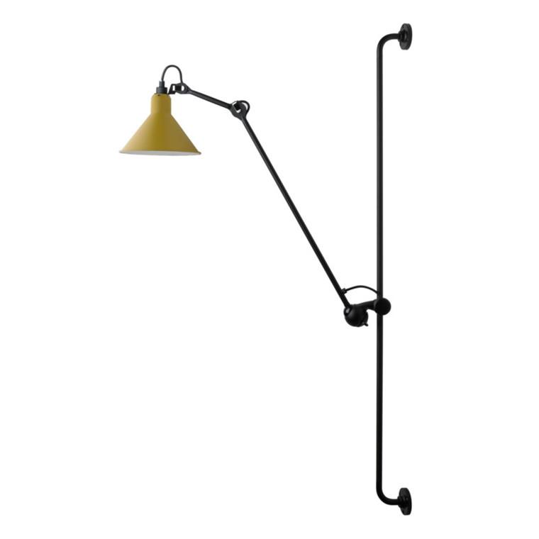 Lampe Gras Væglampe No. 214 Sort-Gul