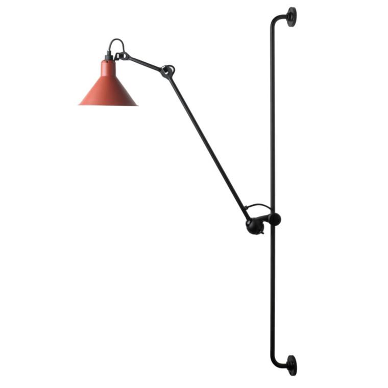 Lampe Gras Væglampe No. 214 Sort-Rød