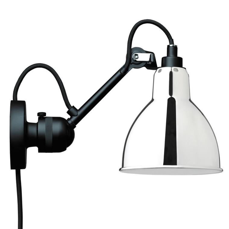 Lampe Gras Væglampe Sort/Krom No 304 CA