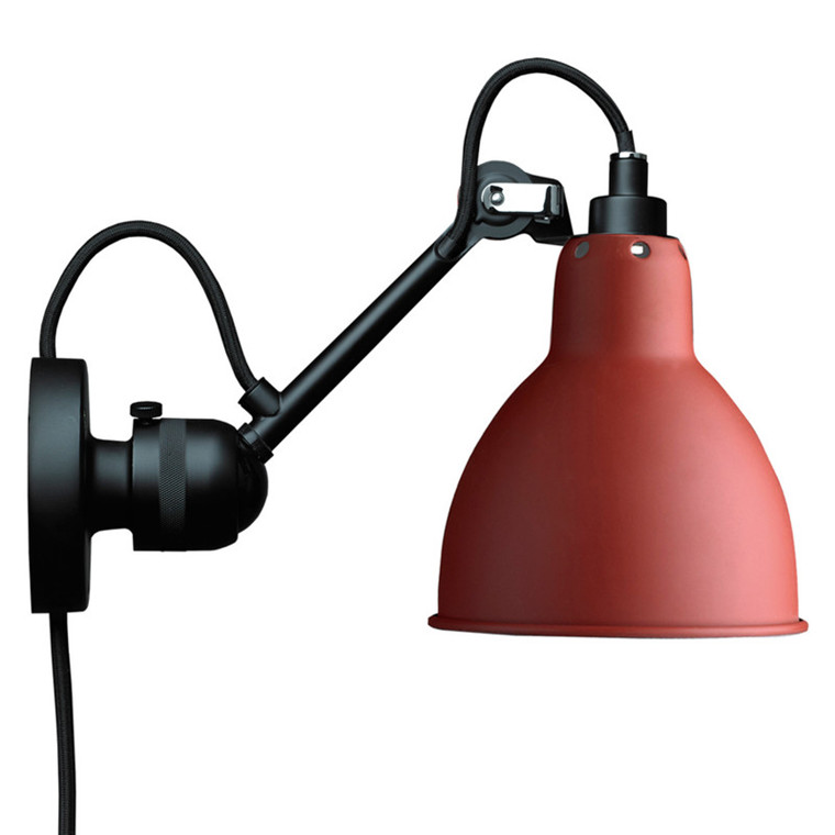 Lampe Gras Væglampe Sort-Rød No. 304 CA