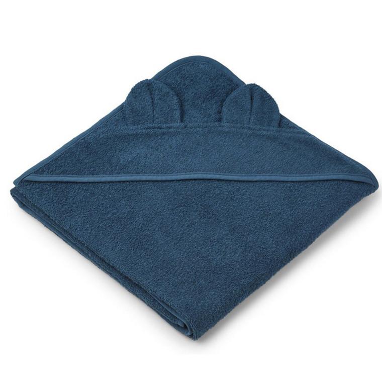 Liewood Håndklæde Mr. Bear Petrol