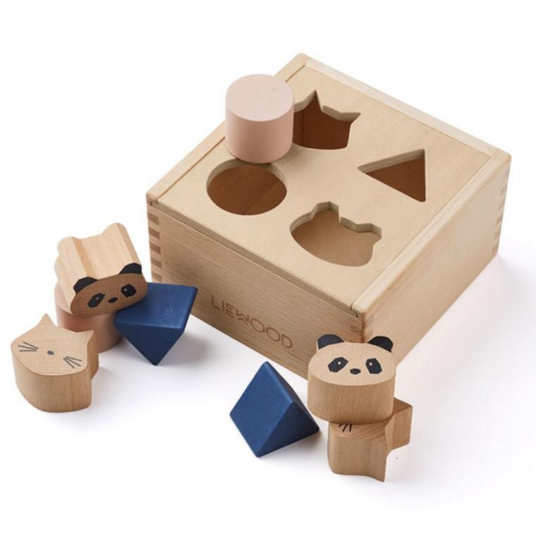 Liewood Puttekasse, Mateo Wood Box Puzzle