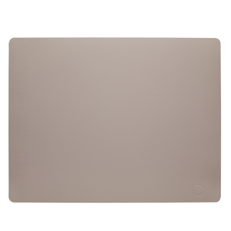 Lind DNA Table Mat Dækkeserviet Square Cool Grey Softbuck
