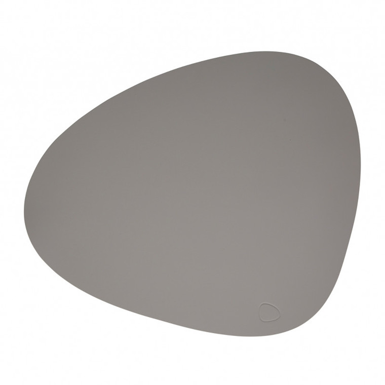 Lind DNA Tablemat Dækkeserviet Curve Light Grey-Softbuck