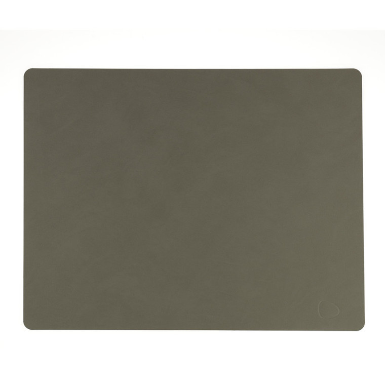 Lind DNA Table Mat Dækkeserviet Square Army Green-Nupo