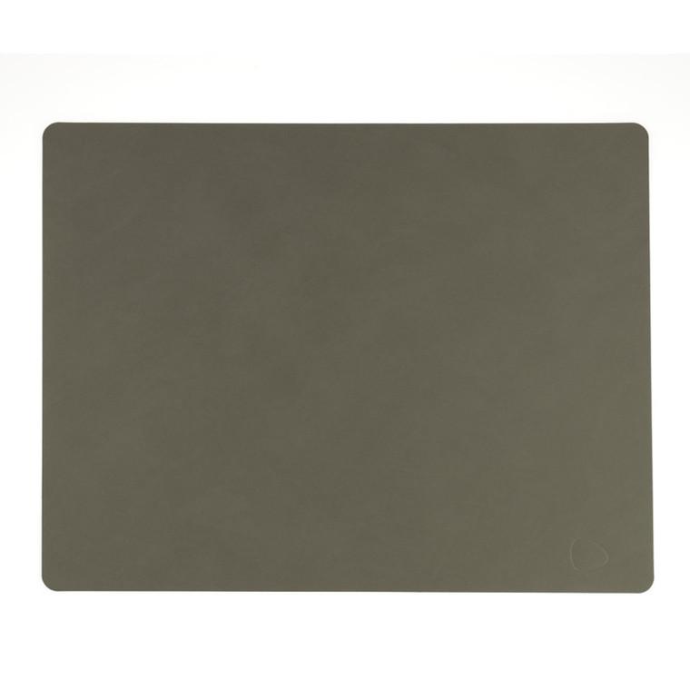 Lind DNA Table Mat Dækkeserviet Square Army Green-Nupo