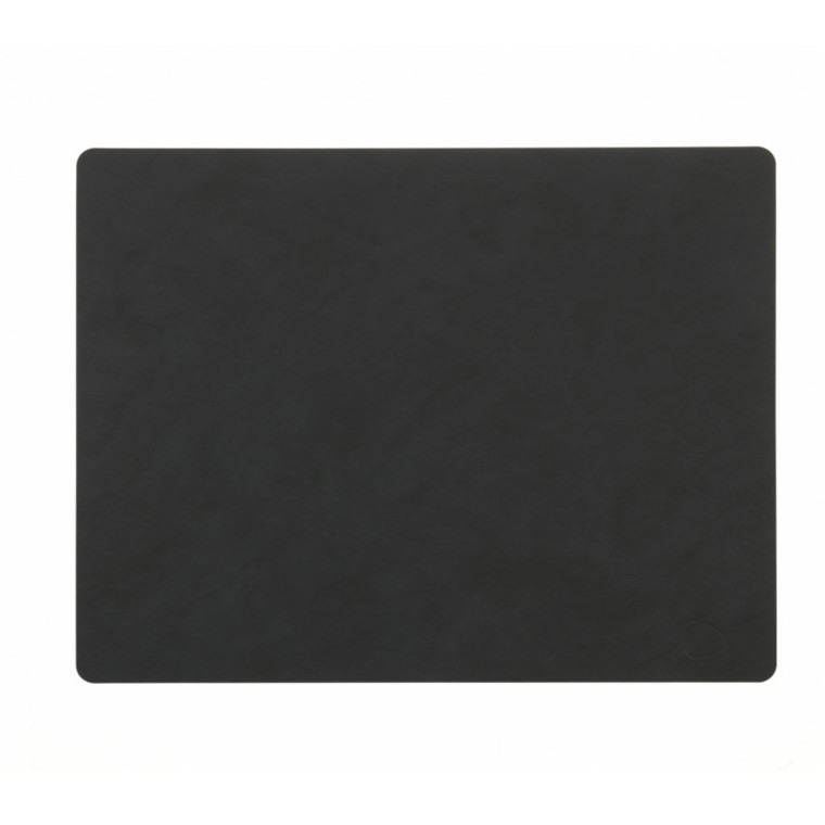 Lind DNA Table Mat Dækkeserviet Square Black-Softbuck