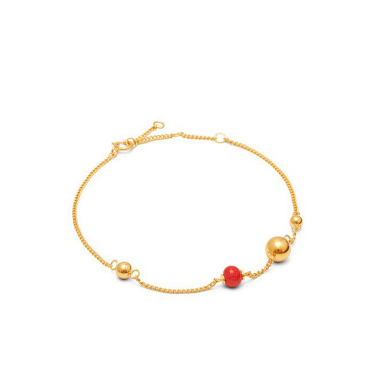 Louise Kragh Armbånd Pearl On Strings Guld Rose