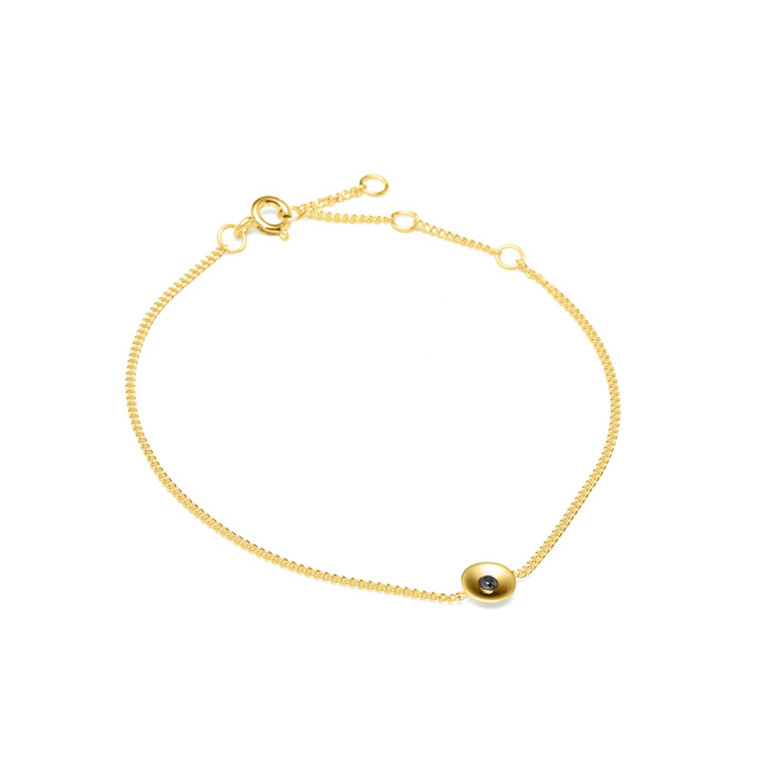 Louise Kragh Armbånd Embrace Guld-Sort