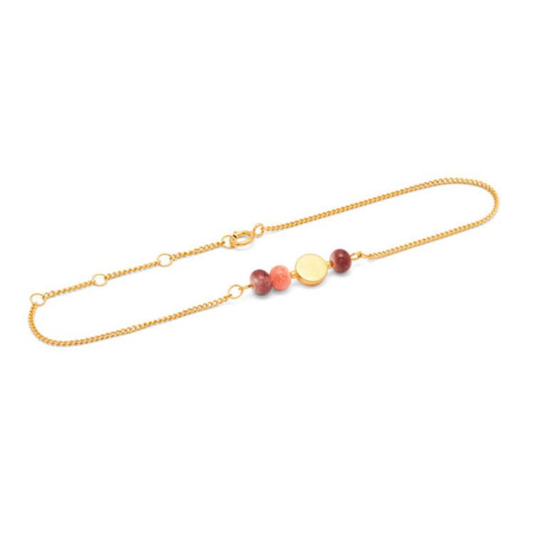 Louise Kragh Armbånd Colour, blomme og peach