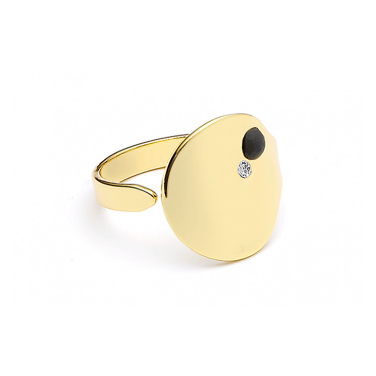 Louise Kragh Ring Microdot guld